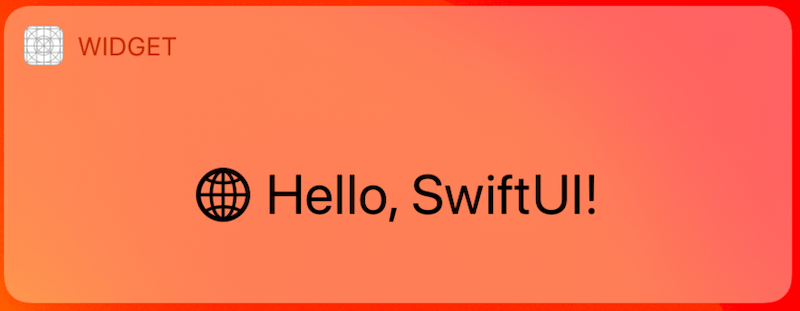 We can create Today Extension with SwiftUI