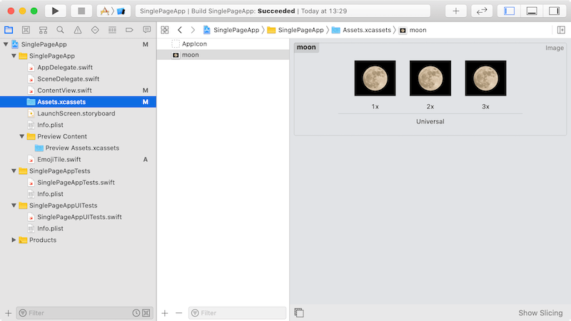 Put images into Assets.xcassets on Xcode